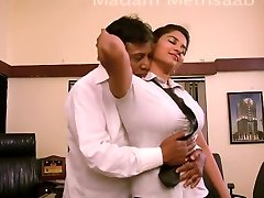 Desi School Girl Romancing With Schoolteacher For Promotion - Giant Boob Pressed Bgrade