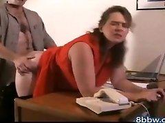 German BBW Ass-fuck Creampie