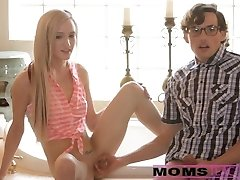 Mom and sonny tag team nubile hottie