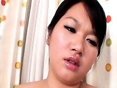 Asian with large tits having fun