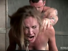 Two aggressive boys fuck sex-hungry and bound up harlot Mona Wales
