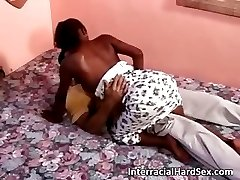 Horny couple enjoying in hot interracial part6