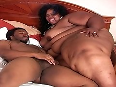 Mega Dark-hued SSBBW Gets Fucked II