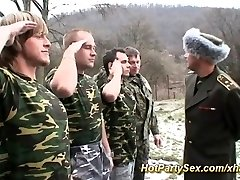 Chick gets soldiers jizm