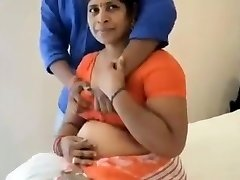 Indian mom poke with teen boy in hotel room