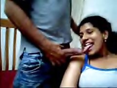 Desi couple enjoys flashing on webcam
