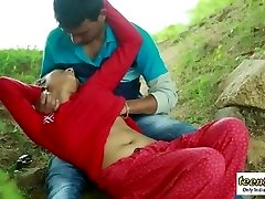 Desi indian chick romantic fuck-a-thon in the outdoor jungle - teen99