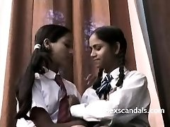 Indian School Girls Filmed By Schoolteacher In Lesbian Sex
