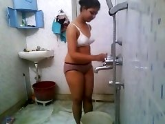 Indian School Babe In Hostel Shower