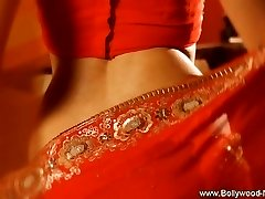 Indian Babe Red Satin Erotic Dancing