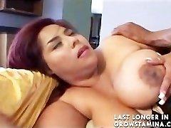 Huge Bhangra Butt Oriental Paki Lady luvs Big West Indies Bamboo Penis