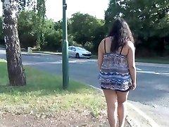 Indian amateur bbw Kikis public flashing and outdoor hidden cam masturbation wi