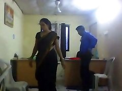 Office female with hidden camera