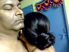 Sexy Homemade Indian Mature Hairy Couple Have Awesome Intercourse