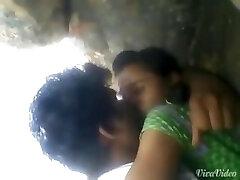 Teenie Rashna with boyfriend kissed in forest outdoor