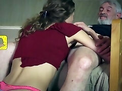 Puny Skinny Teen Services Old Man And Enjoys Being Ate [HD]