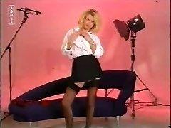 Naughty Uniform Blonde Strips !!