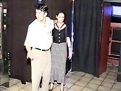Pregnant BDSM girl romped in sexshop