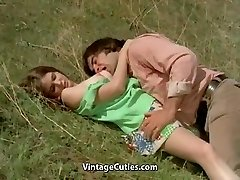 Fellow Tries to Seduce teen in Meadow (1970s Antique)