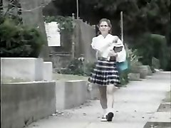 Shy young girl gets screwed by crazy dude on her way to school