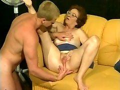 Retro grandmother gets super-steamy dicking from muscled stud