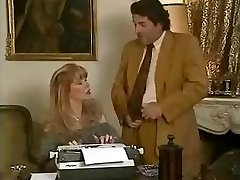 Beauty office secretary Babette gets penetrated by her bosses and her friend