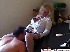 Mature red-hot secretary swallow cum