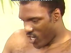 Blonde pierced by black penises
