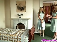 Vintage all girl fingering stockinged dyke