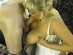 Vintage chubby blond with hefty tits