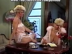Cock worshipped by retro huge-boobed girl