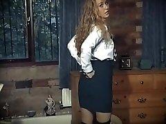 British school doll uniform striptease