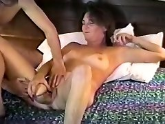 Ample titted Classic Porno Amateur Deep Throating Meatstick