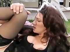 Crazy amateur Stockings, Vintage adult clip