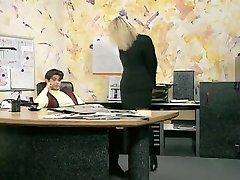 Incredible amateur Office, Stockings fucky-fucky clip