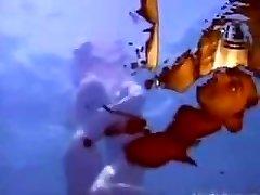 A wet dream - underwater anal invasion.