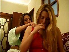 Ana Paula Melo & Cristina Junior - Portuguese envious housewive beat down by a escort.
