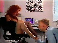 Redhead vintage sole fetish desire