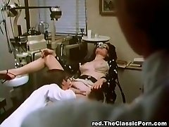 Doctor penetrates sexy woman in a cabinet