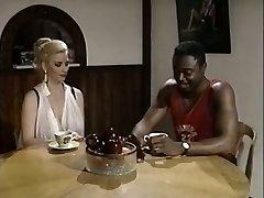 Black stud eats pussy of white bosomy rapacious tart