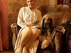 The lady with the mutt