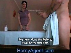 HornyAgent MILF fucks masażysta