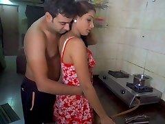 Husband tonguing wife