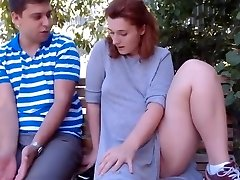 Ginger-haired and neighbor outdoor(pussy licking)