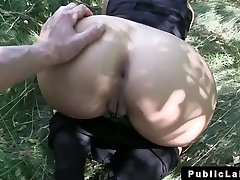 Euro blonde inexperienced fucks POV outdoor