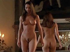 Lovemaking in a castle with lesbian slaves