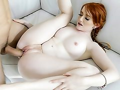 BraceFaced - Barely Legal Ginger Teen Bounces On a Huge Man Meat