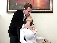 Supah slut McKenzie Lee gets rammed rock hard right on the table