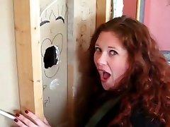 Dona de casa Tem primeiro Gloryhole Experiência