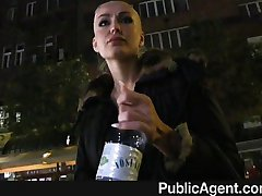 PublicAgent - Tattooed blonde cash for sex